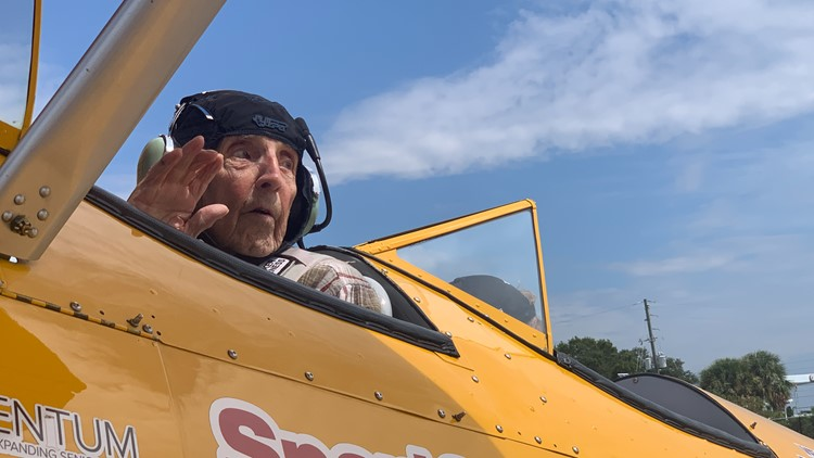 Local veteran gets to live out his dream of flying in a WWII biplane