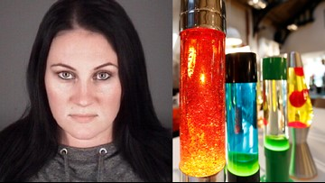 Woman accused of beating ex-girlfriend with a lava lamp