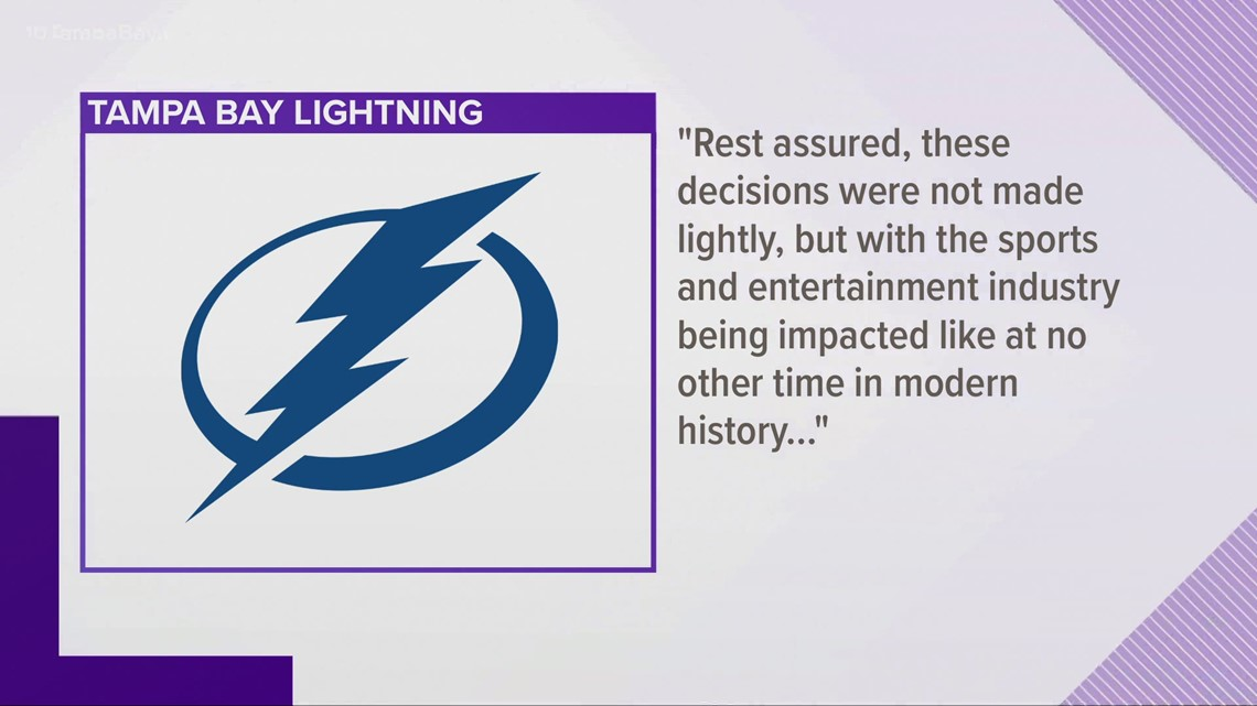 Tampa Bay Lightning laying off 30 workers because of virus