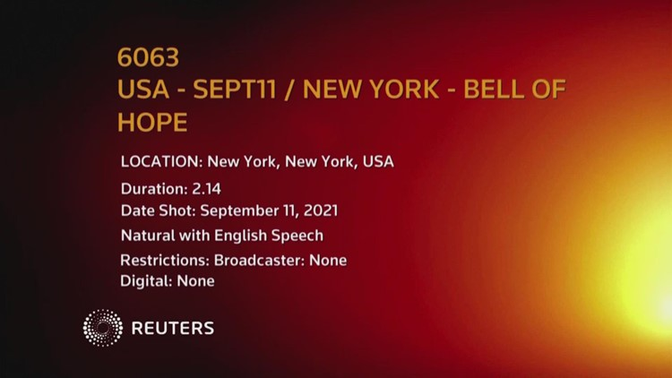 Bell of Hope rang out at St. Paul's Chapel in New York