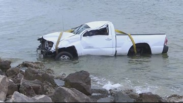 Pick-up truck crashes into water off Courtney Campbell Causeway