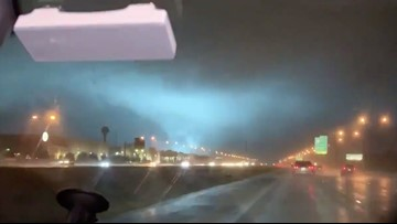 Possible tornado caught on camera in Polk County