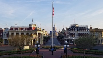 Disney World flag ceremony continues in empty park during pandemic