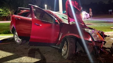 SUV rolls over in early morning Hillsborough County crash