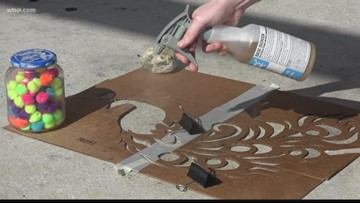 Rain art brightens up Clearwater sidewalks