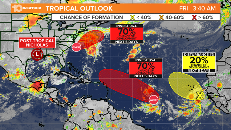 Plenty to watch in the tropics as Hurricane Center monitors 3 areas for development