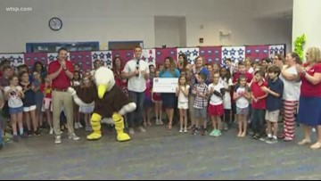 Duke Energy Florida presents check to Cypress Woods Elementary