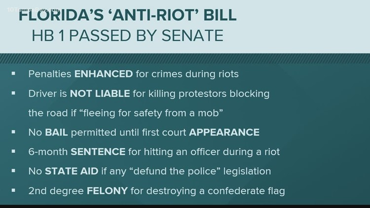 Here's a break down of Florida's 'anti-riot bill'