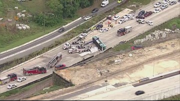 Lynx bus overturns on I-4 in Orlando, injuring 9 people