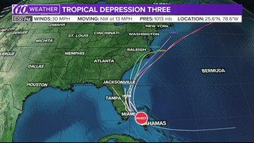 Tropical Depression Three: Track the tropical cyclone, see spaghetti models and radar