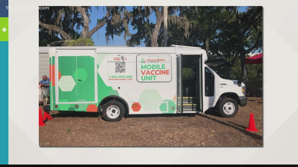 Mobile unit rolls into communities with high vaccine hesitancy
