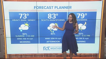 Saturday video forecast