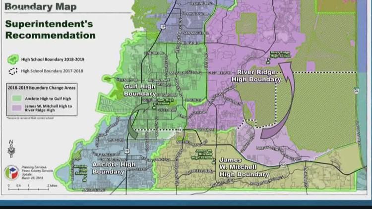 Pasco County Florida Map.Pasco County School Board Votes To Rezone Six Schools Wtsp Com