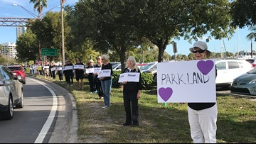 Group pays tribute to Parkland victims, call for Gun Law Reform
