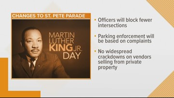 St. Petersburg gears up for Martin Luther King Jr. parade