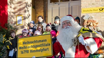 Santa Claus back at work in Germany answering Christmas mail from around the world