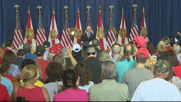 Vice President Mike Pence headlines 'Keep America Great' rally in Tampa