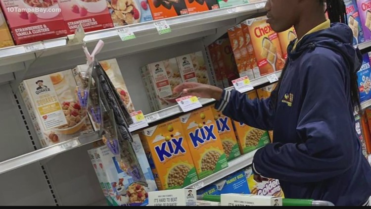 Riverview teen helps feed hungry children with cereal