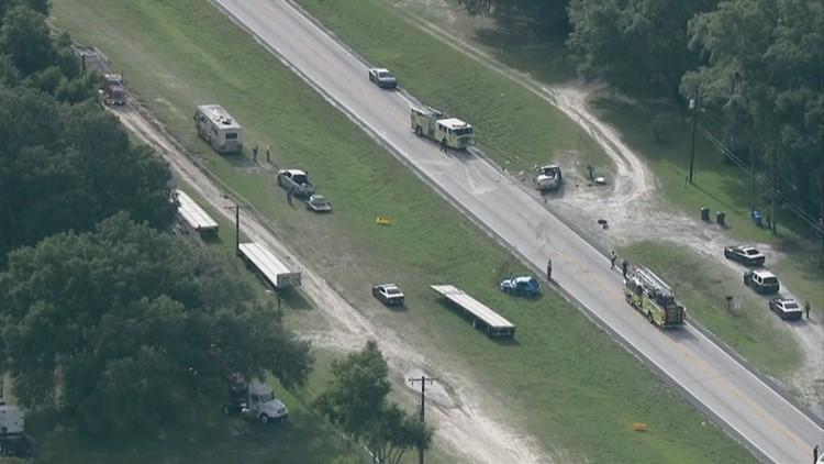 Deadly crashes closes part of U S  301 in Hillsborough County | wtsp com