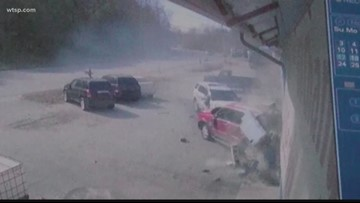 Wow Moments: North Carolina deputy loses control, Jesus carving survives fire
