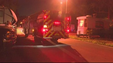 Dog wakes family to fire at Pinellas Park RV park