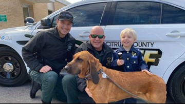 Pint-sized deputy treated to real-life experience with Citrus County Sheriff's Office