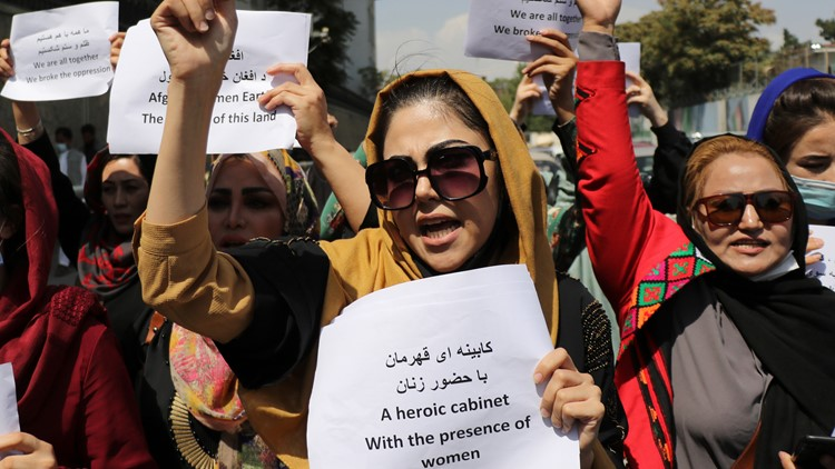 Reports: Curtain separates women, men at Afghanistan university