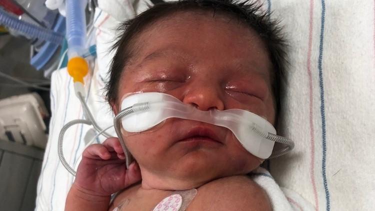 newborn baby found in the woods