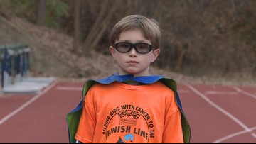'There are no age requirements to make a difference' | 9-year-old runs for kids with cancer