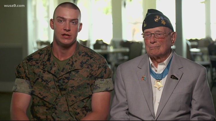 Great-grandson of last living WWII Medal of Honor recipient completes boot camp