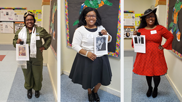 Suffolk teacher celebrates Black History Month by bringing history to life