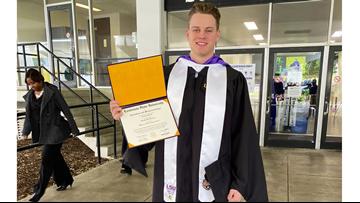 Heisman Trophy winner Joe Burrow earns master's degree
