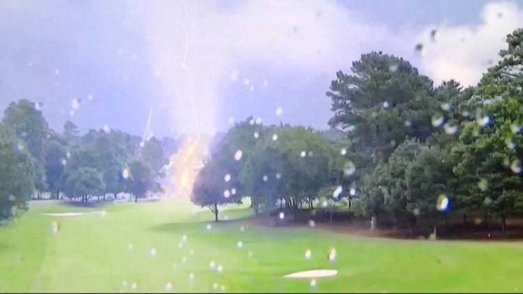 Crews responding to lightning strike injuries