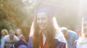 She had a seizure the day of graduation. So her high school brought graduation to her.