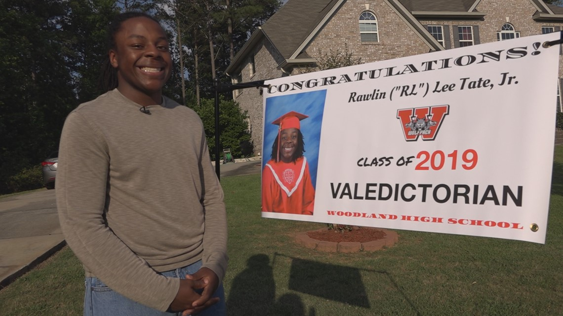 He's the 1st African-American male valedictorian at his high school, graduating with a 4.7 GPA