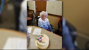 Woman celebrates 107th birthday